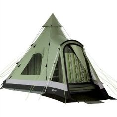 Outwell Indian Lake Tipi Tent 2012 Classic Collection. Like a classic Tipi, but modern, and it has a doorway.