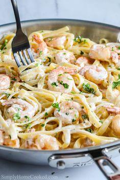 Seafood Pasta Recipes, Shrimp Recipes For Dinner, Seafood Dinner, Delicious Dinner Recipes, Yummy Food, Cajun Recipes, Rice Recipes, Prawn Pasta, Garlic Shrimp Pasta
