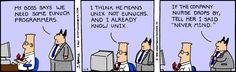 Assonance, really - The Dilbert Strip for November 9, 1993