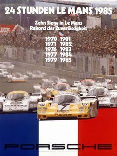 Historical poster Le Mans 1985