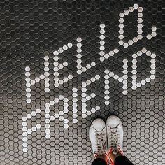 Hello friend, where is the part tonight? Photo by Penny Tile Floors, Little Green House, Penny Round Tiles, House On The Rock, Floor Patterns, Living Room Remodel, Mosaic Tiles, Tiling, Mosaic Art