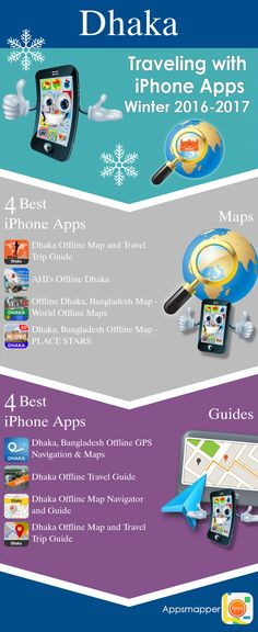 Dhaka iPhone apps: Travel Guides, Maps, Transportation, Biking, Museums, Parking, Sport and apps for Students.