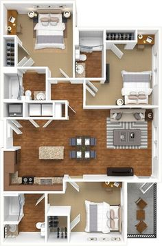 📌 50 Model House Plans for Your Inspiration - House Floor Plans « Sims House Plans, House Layout Plans, Small House Plans, House Layouts, House Floor Plans, Sims House Design, Small House Design, Modern House Design, Apartment Floor Plans