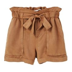Soft Fabric Shorts (€33) ❤ liked on Polyvore featuring shorts, elastic waistband shorts, elastic waist shorts and mango shorts