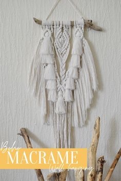 Be crowned the best gift-giver ever with this boho Macramé Wall Hanging with two intricate layers of super soft cotton.   Making a great addition to a creative art wall or nook in a cosy, boho home.  Home Office Uk, Boho Beautiful, Natural Texture, Natural Living, Wall Hangings, Creative Art, Nook, Fiber Art, Hand Weaving