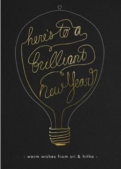 Here's to a brilliant new year...