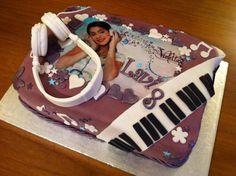 Violetta cake!!! cool headphones and keyboard!