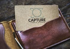 Capture Photo Studio Logo with mockup  What's your thoughts on this? Capture Photo, Studio Logo, Photo Studio, Mockup, Card Holder, Thoughts, Cards, Stuff To Buy, Rolodex