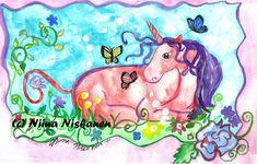 "@fairychamber posted to Instagram: ""Unicorn and co"" watercolor 8 x 11 / A3 for sale :D pm me for details #pink #unicorn #unicorns #perhonen #yksisarvinen #fantasyart #illustratorsofinstagram #fantasy #sweet #nurserydecor #purple #conceptart #fairy #conceptualart #girly #fairytale #artstation #characterdesign #kidsdecor #conceptual #pastel #girlsroom #childrensroom #kidsinteriors #fae #kidsroominspo #kidsroomdecor #faerie #barnrum #babyroom Art Station, Animal Skulls, Conceptual Art, Kids Decor, Faeries, Pink And Green, Purple, Nursery Decor, Party Supplies"