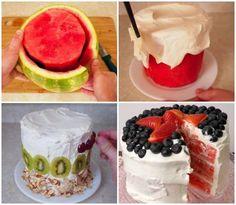 Pastel de Sandía, encuentra la receta aquí...encuentra más looks para combinar chalecos aquí..http://www.1001consejos.com/pastel-de-sandia/