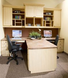 home office great office for 2 people love the closed cabinetry for
