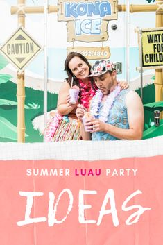 Summer Luau Party Ideas With Kona Ice Luau party ideas for food, luau decoration ideas & fun luau ideas for adults to enjoy! Adult Luau Party, Outdoor Games To Play, Kona Ice, Diy Adult, Organized Mom, Photo Booth Backdrop, Diy Party Decorations, Party Fashion, Party Games