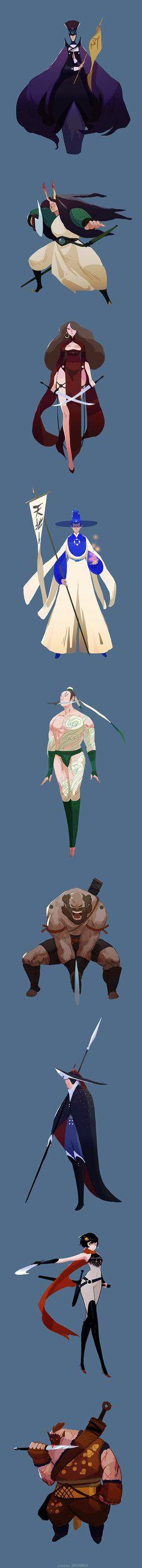 yao yao on Behance Game Character Design, Character Design References, Character Design Inspiration, Character Concept, Game Design, Character Art, Concept Art, Design Poster, Art Furniture
