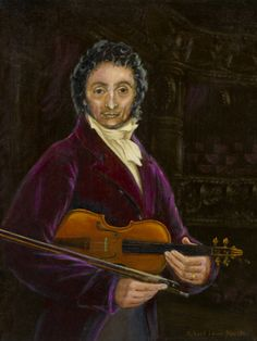"Portrait ofNicolò Paganini ByRobert Lewis Booth Oil on canvas panel size 16"" x 12"" date 2004 kohcostage.blogspot.com/?m=1"