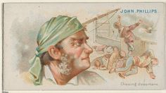 "Trade cards from the ""Pirates of the Spanish Main"" series (N19), issued ca. 1888 in a set of 50 cards to promote Allen & Ginter brand cigarettes."