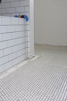 running wall tile onto floor