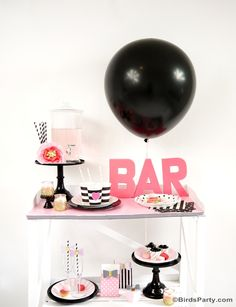 Cute DIY bar idea for showers or birthdays