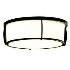 Shop allen + roth 13-in W Oil-Rubbed Bronze Ceiling Flush Mount at Lowes.com