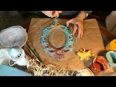 Rusty patina | Küflü eskitme | Kokulu taş eskitme boyama - YouTube