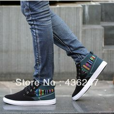 Autumn and winter tide of male high-top shoes men's attached the skates hip-hop shoes thermal sports skateboarding shoes casual $26.53