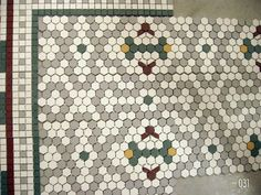 More vintage repro tile for bathroom floor