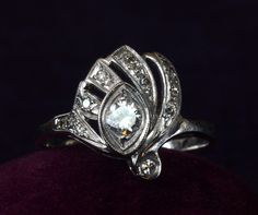 1920-30s Art Deco Eye of Horus Diamond Ring. Perfection! #ring #engagement #wedding