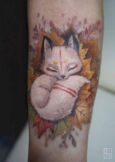 TattooTraveler: Stepanova Victoria #TatTravelers #colorink #tattoobooking #tattoos #cattattoo #realismtattoo