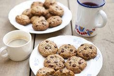 American Chocolate Chip Cookies with Cherries, Coffee and Rosemary