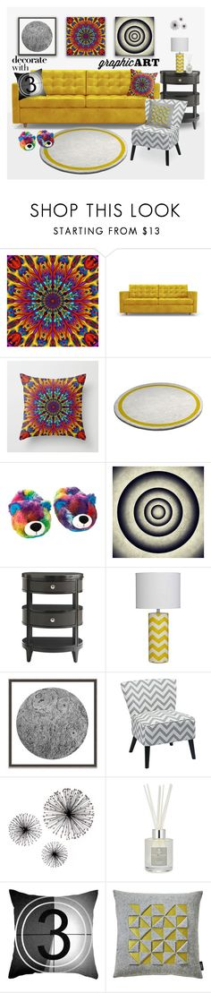 """""""Decorate With Graphic Art"""" by natalia-bykova ❤ liked on Polyvore featuring interior, interiors, interior design, home, home decor, interior decorating, Joybird, Stanley Furniture, Wendover Art Group and Office Star"""