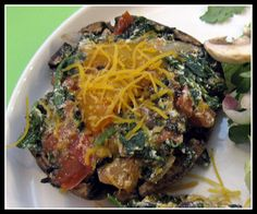 Stuffed Portobello Mushroom Cap Entree! Gluten Free and only 3 points plus!