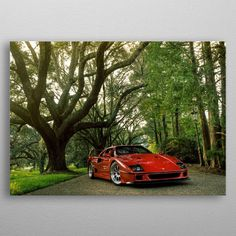 Ferrari F40 by Hristo Dimitrov | metal posters - Displate