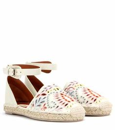 A Jour embroidered leather espadrilles | Valentino