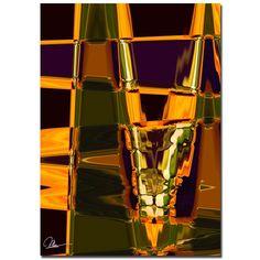 "Trademark Fine Art Martha Guerra 'Abstract V' 16"" x 24"" Canvas Art"