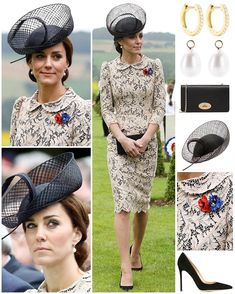 For day two of the #Somme100 commemorations, the Duke & Duchess of Cambridge returned to the Thiepval memorial to officially open its museum before a remembrance service took place.  Duchess Kate was in a new bespoke piece for today's event. It is not yet identified, however I thought it was rather reminiscent of her nude/pink lace McQueen dress worn back in 2012 and 2014. The dress features a peter pan collar, peplum waist and eyelash lace with a leafy design in nude sitting over black…