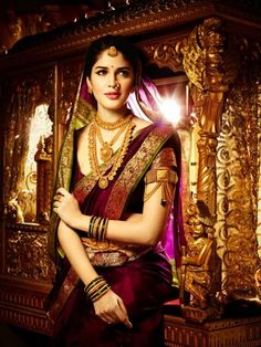 Traditional indian marathi bride jewellery