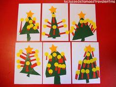 Sapins de Noël à décorer avec des gommettes La classe della maestra Valentina: natale