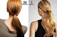 easy post-workout ponytails