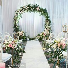 The Best Pink And Green Wedding Ideas – MyPerfectWedding Wedding Stage Decorations, Wedding Wreaths, Wedding Flowers, Wedding Arches, Wedding Altars, Rustic Wedding, Wedding Swing, Pink Green Wedding, Minimalist Wedding Decor