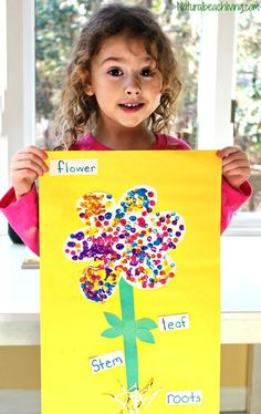 The Best Parts of a Flower Craft for Preschool and Kindergarten, Flower Crafts for Kids are Perfect for learning about flowers, Flower Science for Kids, Reggio, Flower activities for preschoolers… April Preschool, Preschool Garden, Preschool Themes, Preschool Crafts, Kids Crafts, Preschool Kindergarten, Flower Craft Preschool, Preschool Dinosaur, Spring Preschool Theme