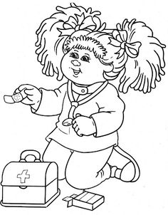 cabbage patch kids coloring pages - poochie coloring page