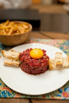 Love is in the food Steak Recipes, Cooking Recipes, Steak Tartare, Meat Steak, Tapas, Food Porn, Food And Drink, Appetizers, Yummy Food