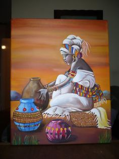. African Paintings, African Artists, Black Women Art, Black Art, African Quilts, African Theme, Peacock Painting, Mosaic Artwork, Africa Art