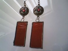 Painted Stained Glass Earrings by Gabriel Studios