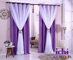 Kreasikan warna sesuka hati mu.. #gordenmurah #gordyncantik #gordenblackout #interiordesign #decoration #livingroom #home #homesweethome #curtains #windows #saturday #purple #vitrage by ichi_gorden