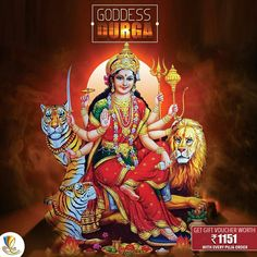 There are many incarnations of #Durga: #Kali, #Bhagvati, #Bhavani, #Ambika, #Lalita, #Gauri, #Kandalini, #Java, #Rajeswari, et al. #Durga incarnated as the united power of all divine beings, who offered Her the required physical attributes and weapons to kill the demon #'Mahishasur'.
