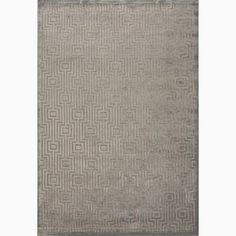 Handmade Geometric Pattern Gray/ Tan Art Silk/ Chenille Rug (7'6 x 9'6)