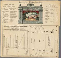 Schematics for a paper theater c 1850-1900