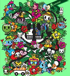 Kawaii Cute, Kawaii Anime, Nature Iphone Wallpaper, Phone Backgrounds, Graffiti Doodles, Aesthetic Japan, Halloween Painting, Happy Earth, Flower Doodles