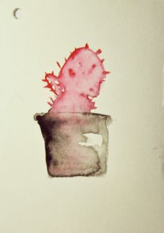 Kaktus#1 Watercolor on paper
