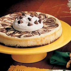 Brownie Swirl Cheesecake.It is #delicious and looks fancy                            #desserts #recipe